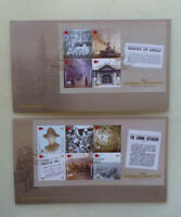 2016 NEW ZEALAND CENTENARY WWI COURAGE  SET 2 MINI SHEET  FIRST DAY COVERS