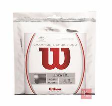 Wilson Champions Choice Duo - Silver / Natural Tennis String Set