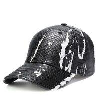 Baseball Caps For Men New Design Snake Skin Pattern Snapback Hats Casquette