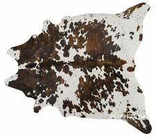 Tricolor Brazilian Cowhide Rug Cow Hide Area Rugs Leather Size XL