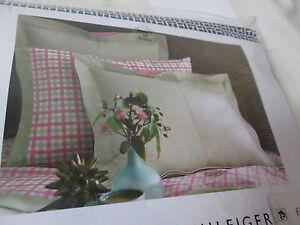 Tommy Hilfiger MODERN SANDS CHINO Euro European Pillow Sham ~ Tan Pink New