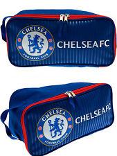 CHELSEA FC FOOTBALL SHIN PAD BOOT BAG KIDS SCHOOL GYM PE KIT BOOTBAG CFC BLUES