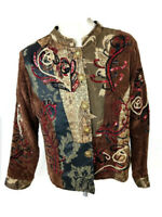 Julia Kim Women's Boho Embroidered Jacket Size Large