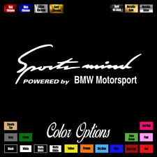 "BMW Motorsport Sports Mind 11"" Vinyl Sticker Decal Euro Drift M3 M4 M5 Z4M 017"