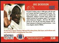 1990 Pro Set Football Eric Dickerson Indianapolis Colts #338 Blank Front