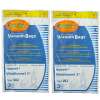 6 Hoover Type W2 Windtunnel Allergy Vacuum Bag, Bagged, Upright Vacuum Cleaners,