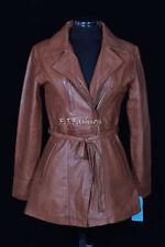 Manteaux et vestes marron en cuir pour femme taille 36