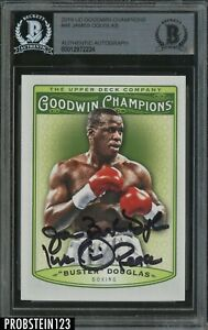 2019 UD GOODWIN CHAMPIONS BUSTER DOUGLAS SIGNED CARD BAS BGS AUTOGRAPH