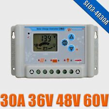 SL03-4830A 30A 36V 48V 60V Wincong solar panel charge controller regulator LCD