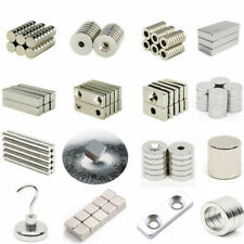 10/200pcs N35/N50/N52 Magnet Super Strong Disc Square Block Cube Hole Rare Earth
