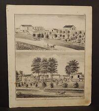 Iowa Lee County Map Elias Enslow Engraving  1874  K14#61