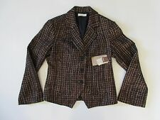 NWT Coldwater Creek Shimmer Boucle in Bronze Metallic Shaped Blazer Jacket 8