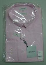 NEW Abelard Size 43 Large Slim Fit Pink Long Sleeve Business Shirt $119.95