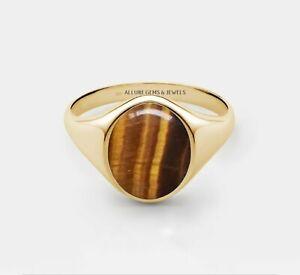 MEN TIGERS EYE Ring Men Signer Ring Men Pinky Ring Men Gold Ring  Ring For Him