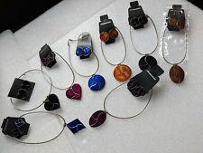 JobLot 8 Enamelled on Silver Colour Snake Chain Necklace & Ear Rings Set Trendy