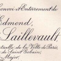 Baron Lucien Edmond De Perthuis De Laillevault Paris 1909