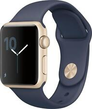 Open-Box Excellent: Apple - Apple Watch Series 2 42mm Gold Aluminum Case Midn...