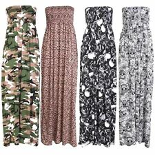 Full Length Viscose Bandeau Dresses for Women
