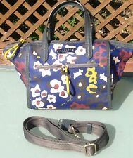 RADLEY LONDON~  FLORAL TOTE BAG + LONG STRAP ~PVC COATED COTTON