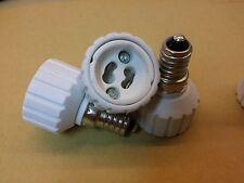 Lot de 2 adaptateurs douille E14 - GU10 ampoule culot