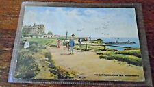Bournemouth, West Cliff Promenade and Pier, Tuck Oilette PC # 6190, No Stamp,