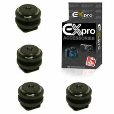 "Ex-Pro Pro Dual Nuts Hot Shoe 1/4"" Screw Adapter x4 for Flash Trigger & Stands"
