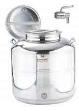 Fusto saldato Sansone 50 litri lt inox contenitore olio bidone + rubinetto mshop