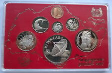 Singapore 1980 Lion Mint Box Set of 7 Coins,Proof,With Silver Coin