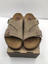 Birkenstock Zurich Soft Footbed Suede Leather Sandals Size 41 MEN SZ 8