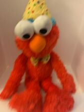 "Sesame Street Gund Elmo Happy Birthday Party Hat Tie Plush 22"" Large 2011"