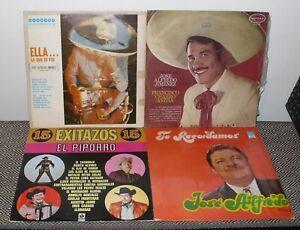 4LP LOT JOSE ALFREDO JIMENEZ / FRANCISCO AVITIA / EL PIPORRO / V.A. TE RECORDAMO