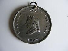 Queen  Victoria  1887 Golden Jubilee Commemorative Medallion  Born 1819 Crowned