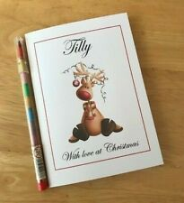 Personalised Kids Christmas Colouring Activity book, Stocking filler - Reindeer