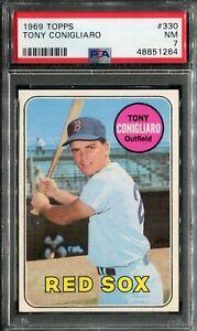 1969 Topps #330 Tony Conigliaro PSA 7 NM