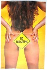 VTG 1986 Sexy Girl Man Cave Pin Up BUTT Thong Nude NO TAILGATING Poster NOS