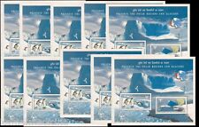 India MNH SS, Preserve Polar Regions & Glaciers, Penguins, Bear Lot of 10 SS-B69
