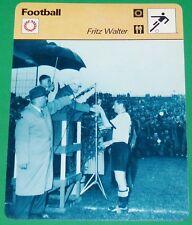 FOOTBALL FRITZ WALTER WM 54 1954 COUPE DU MONDE JULES RIMET DEUTSCHLAND