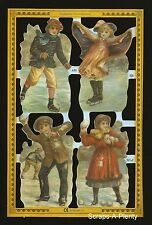 Die Cut Scrap Mamelok English - Winter Children Scenes (Archives Collection) A51