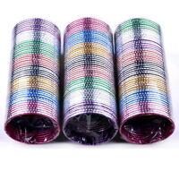 100pcs Wholesale Bulks Lots Colorful Dance Bangle Aluminum Bracelets Jewelery