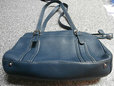 Fossil Teal Leather Purse Tote