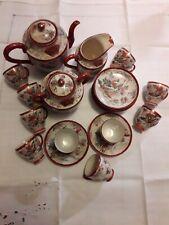 Superbe service à thé ou café en porcelaine de Chine XIXe nombreuses pièces