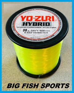 YO-ZURI HYBRID Fluorocarbon Fishing Line 30lb/600yd HIVIS NEW! FREE USA SHIP!