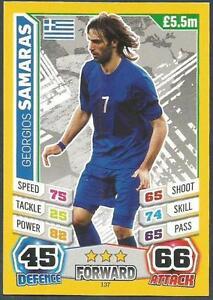 TOPPS MATCH ATTAX  BRAZIL 2014 WORLD CUP- #137-GREECE-GEORGIOS SAMARAS