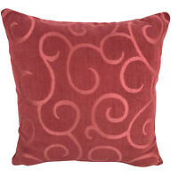 """Coral Red Cushion Covers / Abstract Print - 17 x 17"""" / 43 x 43 cm"""