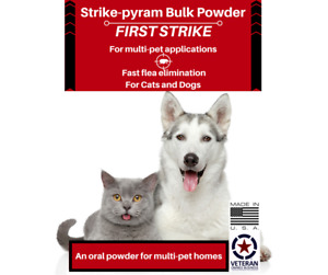 Fast Acting Flea Killer for large dogs, 105 uses, free domestic shipping