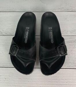 Birkenstock Women's EUR 39 or US 8 - 8.5 Black Madrid EVA Slip On Sandals Slides