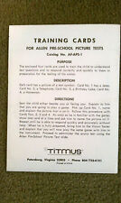 Titmus Training Cards for Allen Pre-School Picture Tests, Set of 4