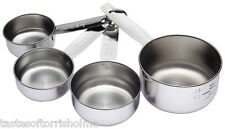 Kitchen Craft Edelstahl Messbecher 4er Set - 1/4, 1/2, 3/4 and 1 Cup