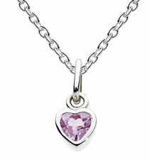 "Dew ""Simply Sterling Silver"" Birthstone Necklace With Chain - February Amethyst"