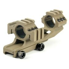 1 Inch Scope Mount With 20mm Tri-Side Rails Extend 1 inch For 20mm Dark Earth